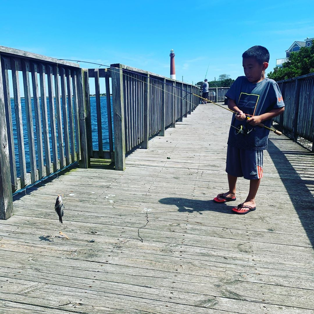 LBI Brandon's first catch! Say goodby before we release it.   …