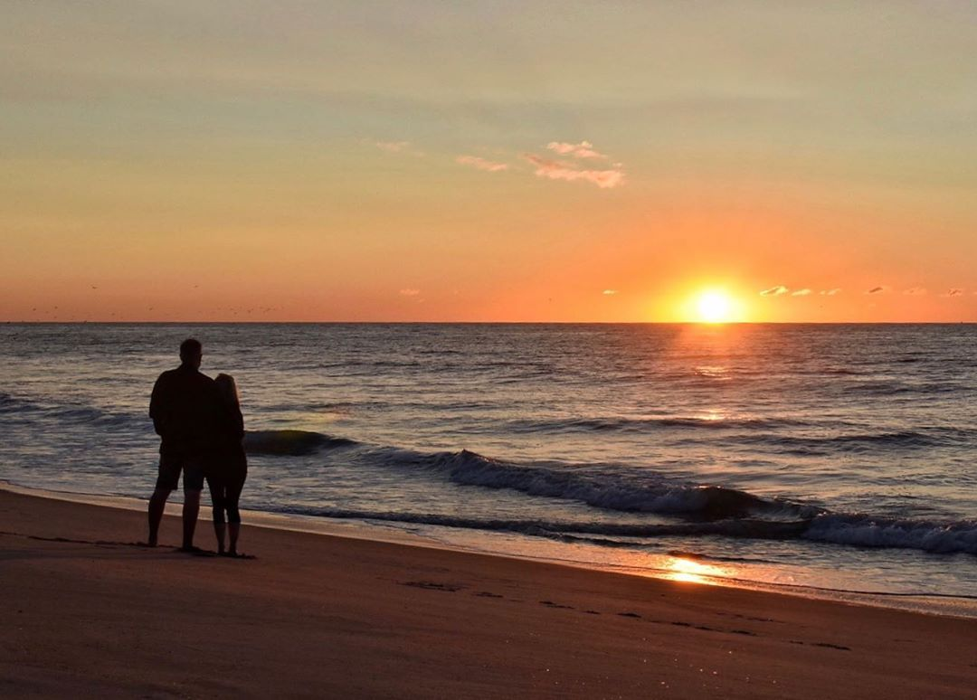 LBI Caught a sweet couple watching the sunrise this morning, another reason to love …