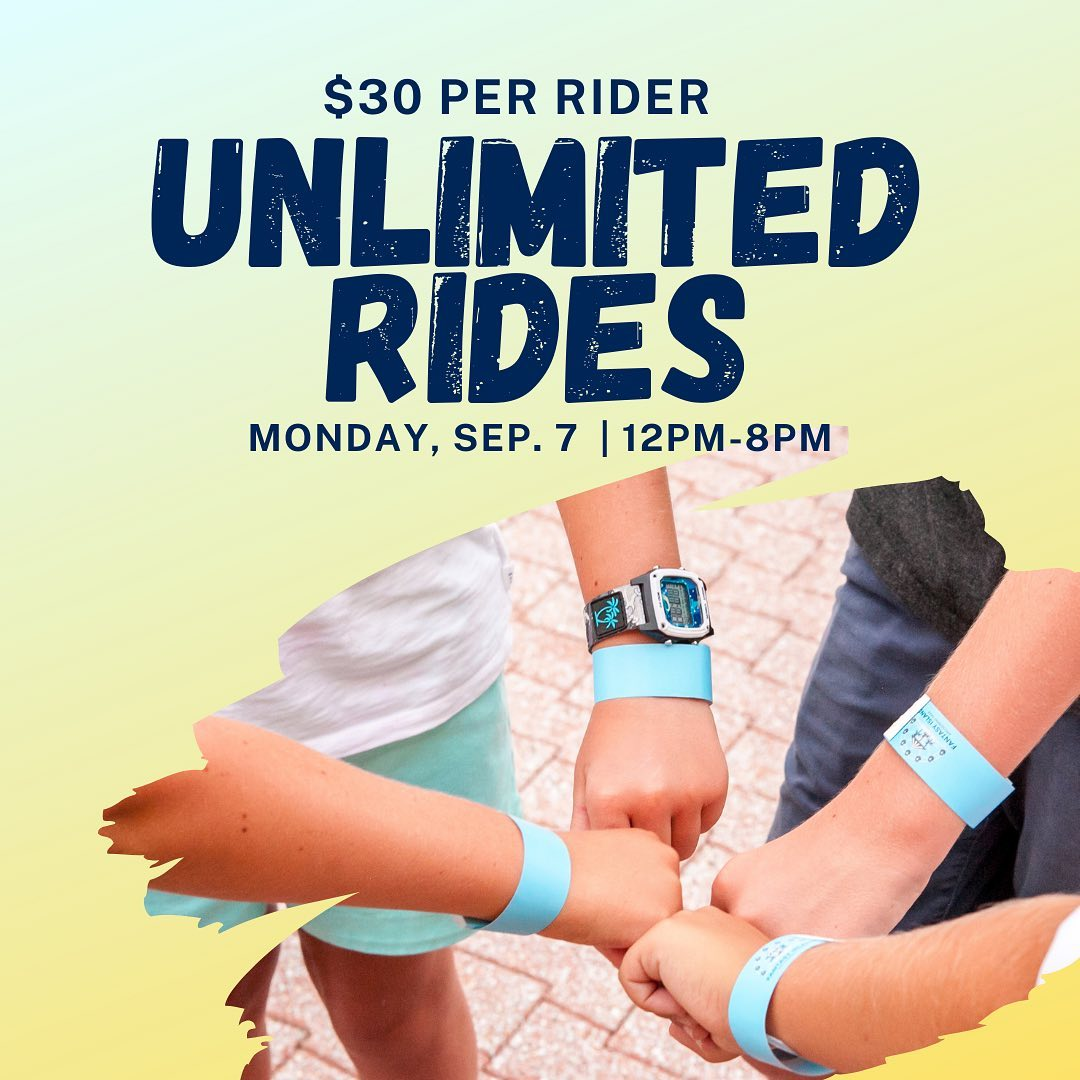 LBI Celebrate Labor Day with $30 Unlimited Rides from 12pm-8pm!…