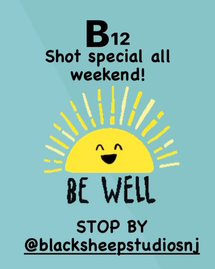 LBI Don't miss out on your B12 boost this weekend!  All weekend long   Be your best …