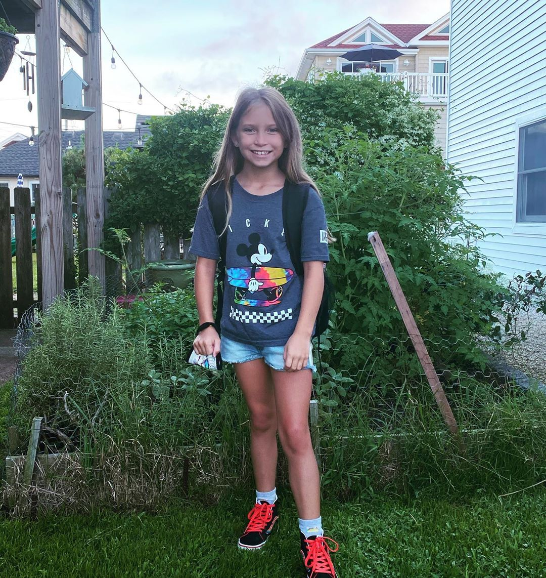 LBI First day of school!!! Hope our Mickey, surfing, taco loving girl has a great fi…