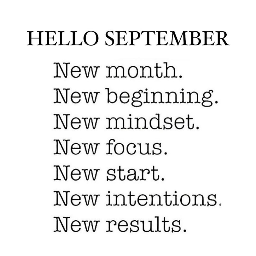 LBI Happy 1st of September! -Set new goals -Raise your bar -Embrace change -Break ba…