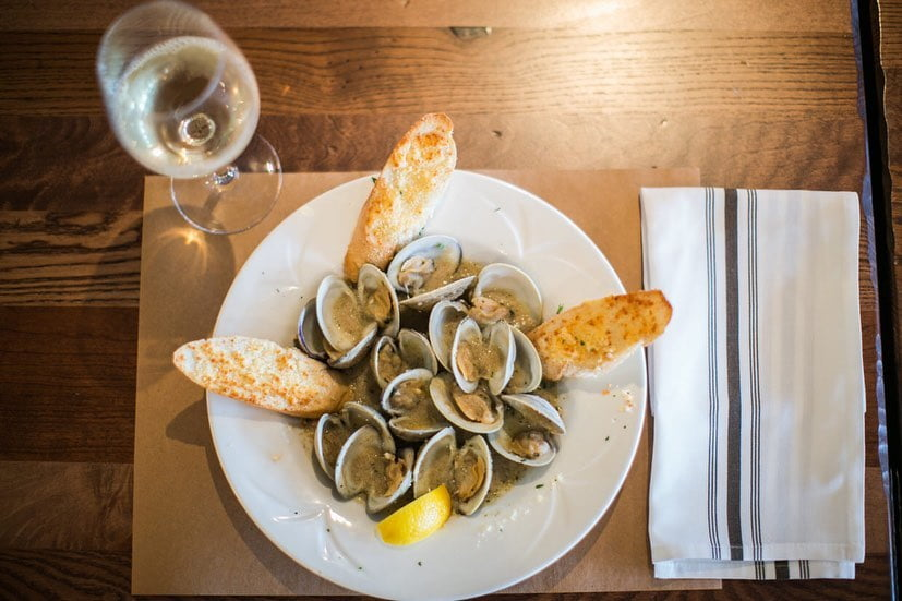 LBI Happy as a clam…smothered in garlic sauce. Serving dinner every night thru Sep…