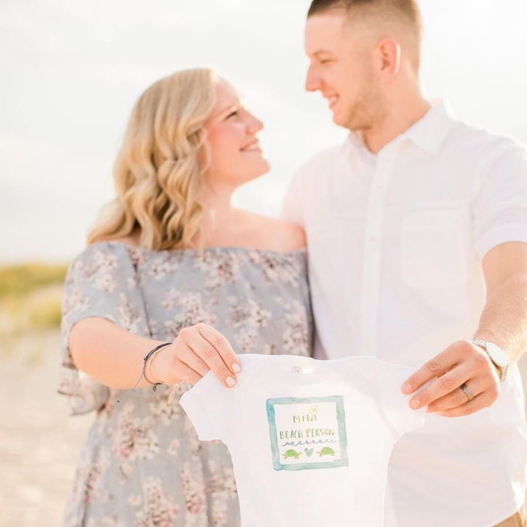 LBI I love the onesies my couples have been bringing along for their maternity sessi…