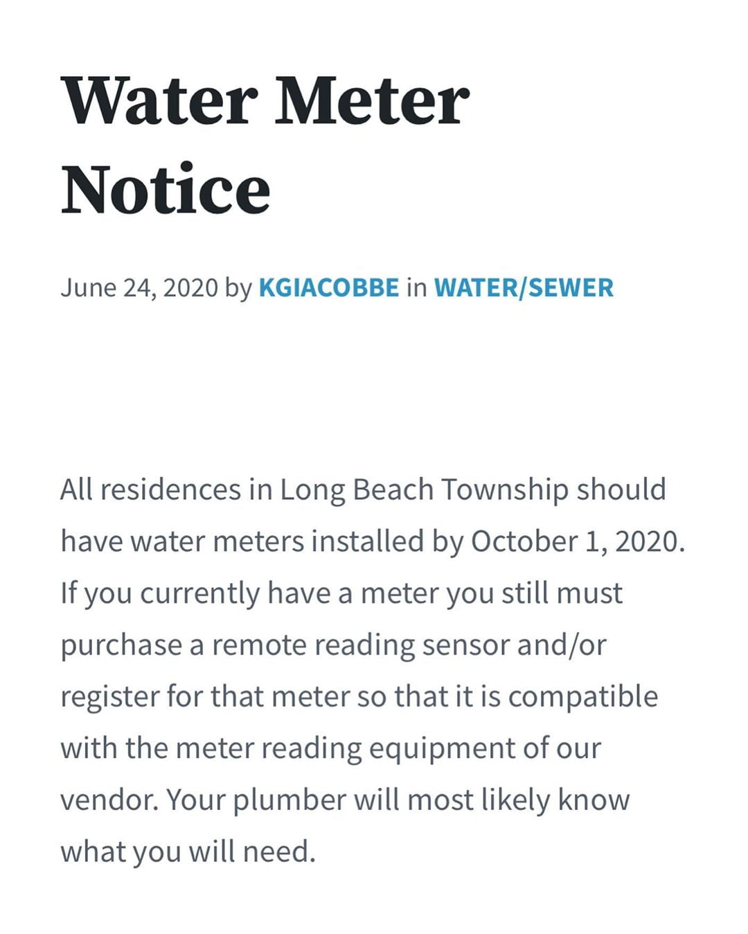 LBI If you live in or have a property in Long Beach Township and received this notic…