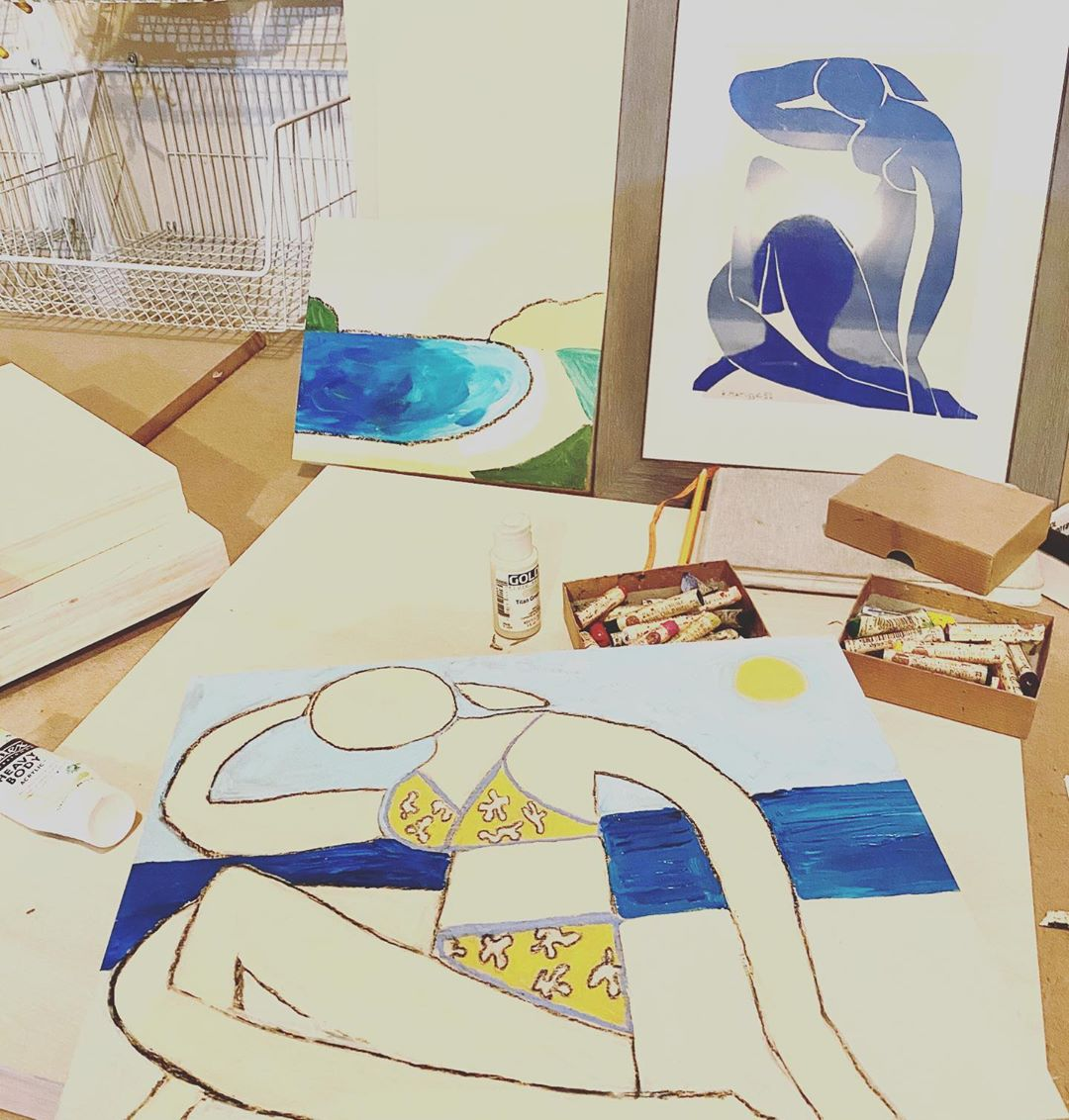 LBI It's all starting! These works are inspired by woodblock printing, Matisse, ocea…