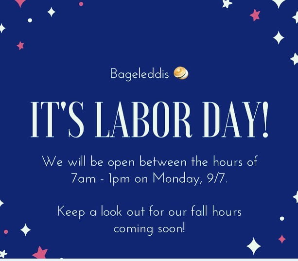 LBI It's almost  _ Here are our hours for Monday, 9/7. We are so grateful for our ha…