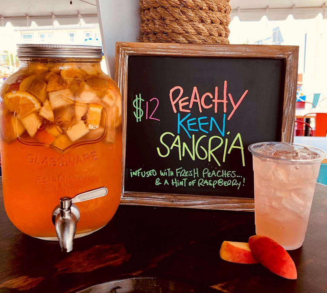 LBI It's not Summer without Fresh Peaches   Who Wants to Try this Peachy Sangria?  ….