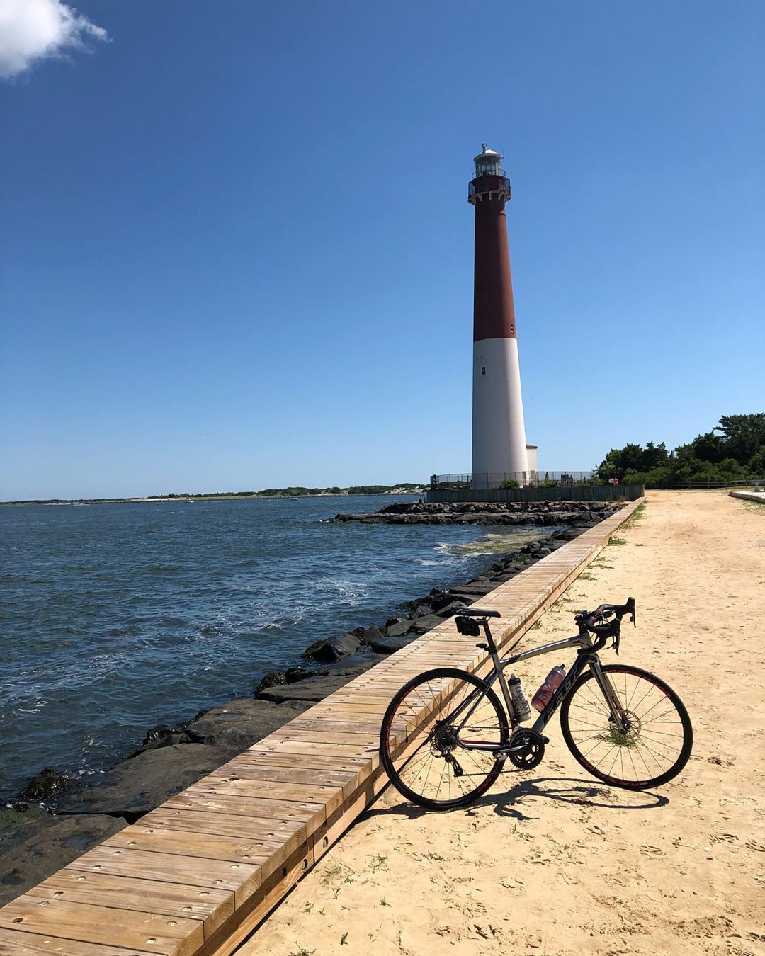 """LBI It's not everyday I get to see a lighthouse on my ride. This is the """"Old Barney""""…"""