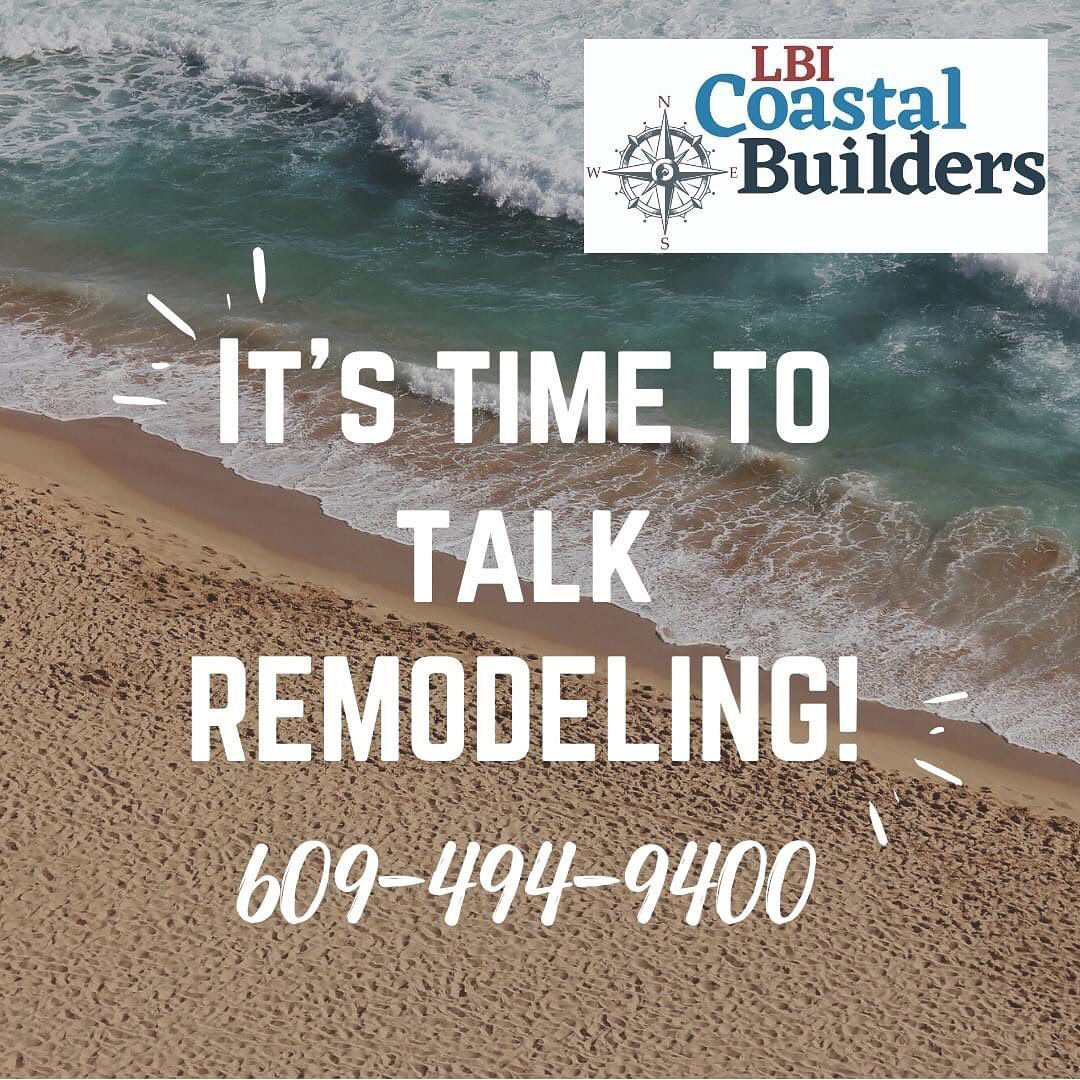 LBI Let's start planning for your fall remodel! 609.494.9400…