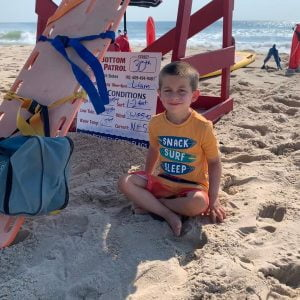 LBI Lifeguard Liam even has his name on the sign.   …