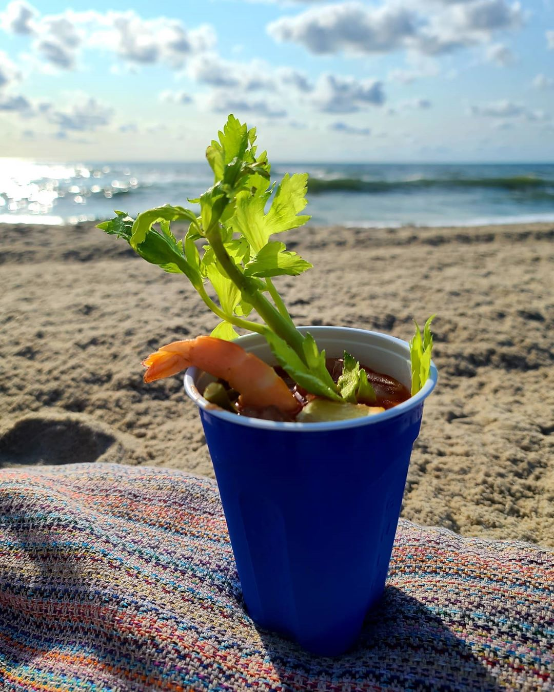 LBI Local Summer = Bloody Marys on the beach!                …