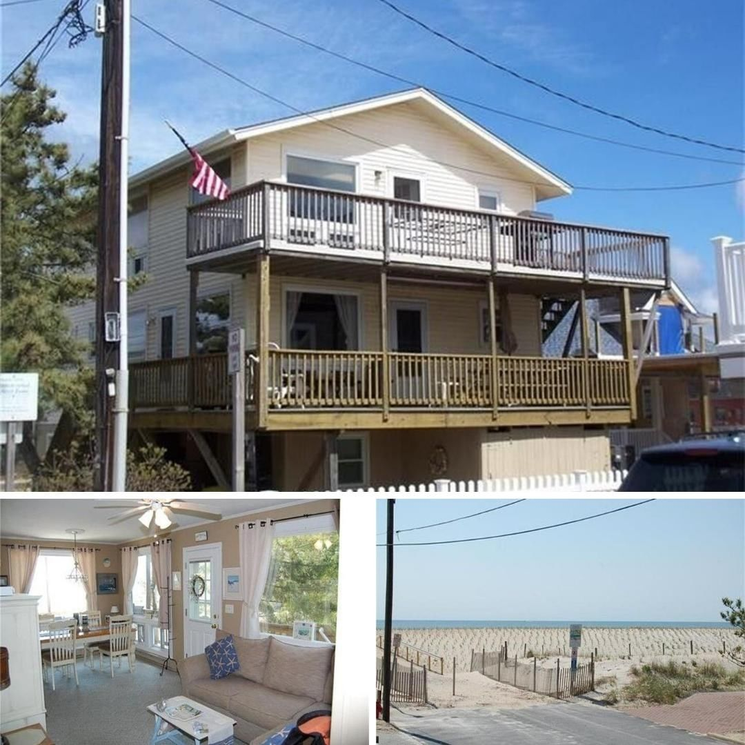 LBI Located in  this vacation rental is just two houses to the beaches of LBI.  3 be…