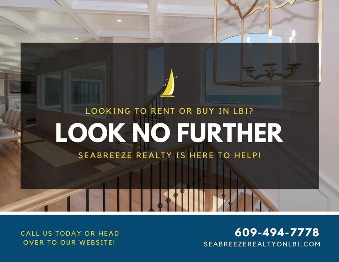 LBI Looking to rent or buy in LBI? Seabreeze Realty is here to help! Call now: 609-4…