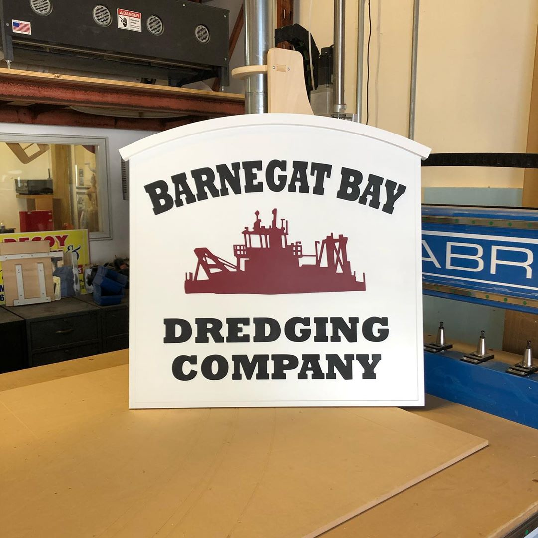 LBI Made this sign for a local company. It was fun with the exception of getting the…