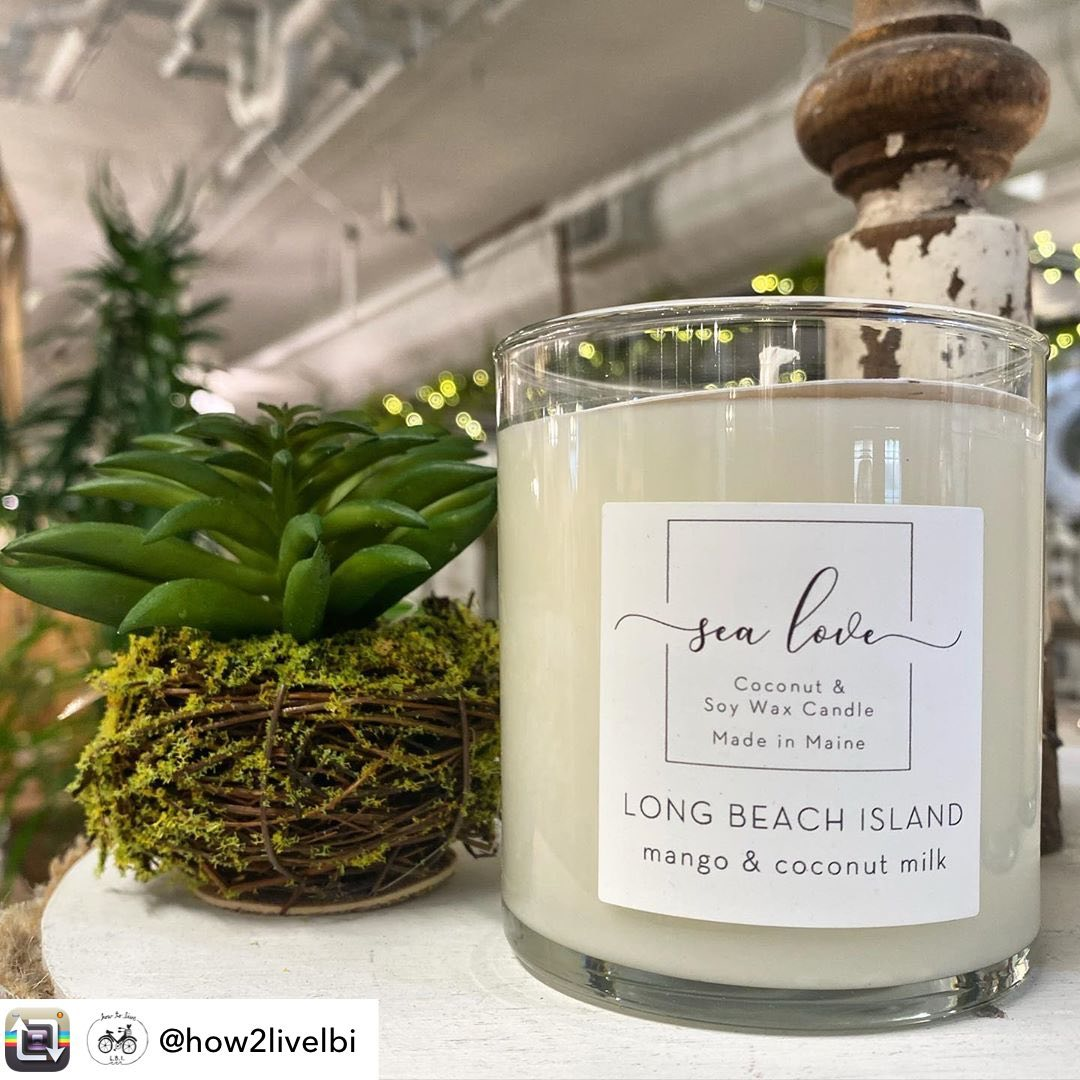 LBI Mango & coconut milk.. the scent of summer. Stop by to grab yours today until 8p…