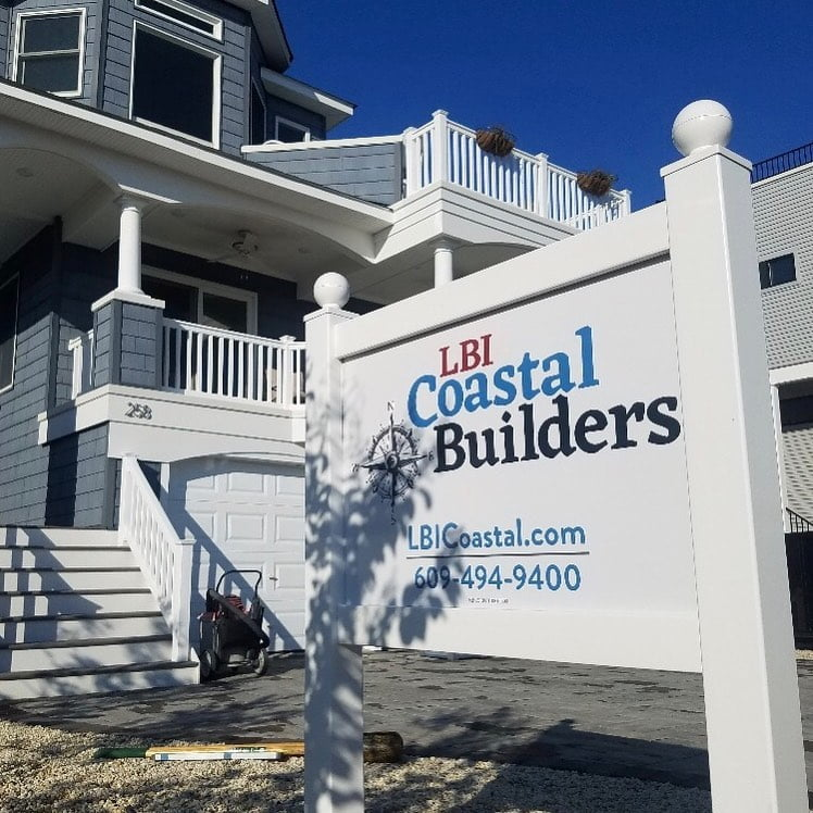 LBI Master bath reno starts today in Surf City! Job sign posted and dumpster in plac…