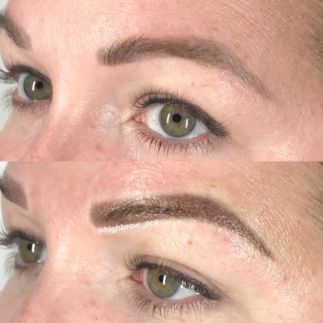 LBI Milk-chocolate  over old, cool-toned microblading …. loving this cover up! .. …