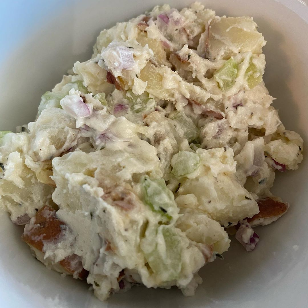 LBI My attempt of making potato salad like  came out amazing!!! While I still think …