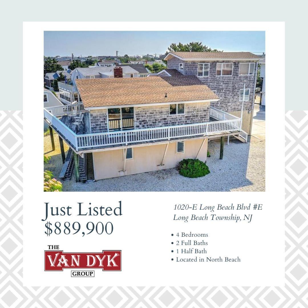 LBI NEW LISTING!  Enjoy many days at the Jersey Shore in your home located one house…