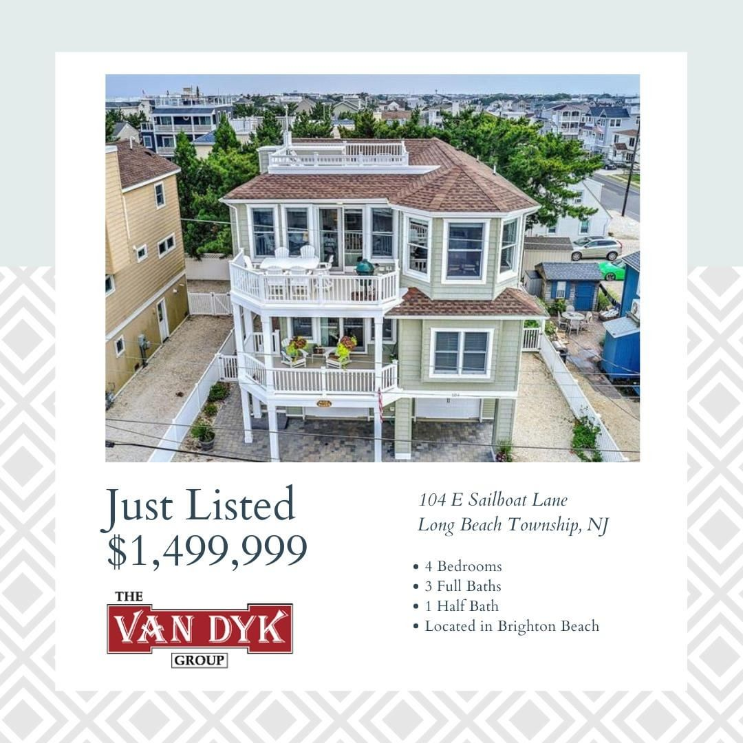 LBI NEW LISTING!  Welcome to 104 E Sailboat Lane (89th Street) on Long Beach Island….