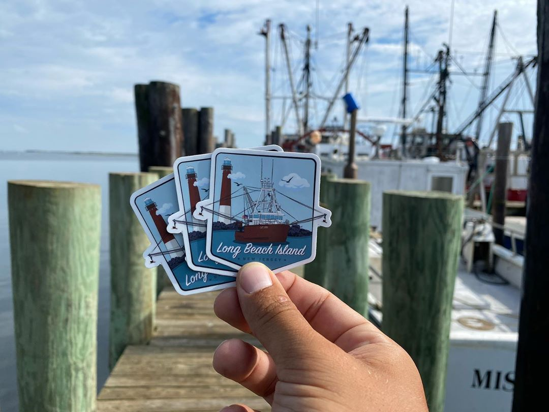 LBI NEW STICKER ALERT! Long Beach Island has always been home and I'm happy I finall…