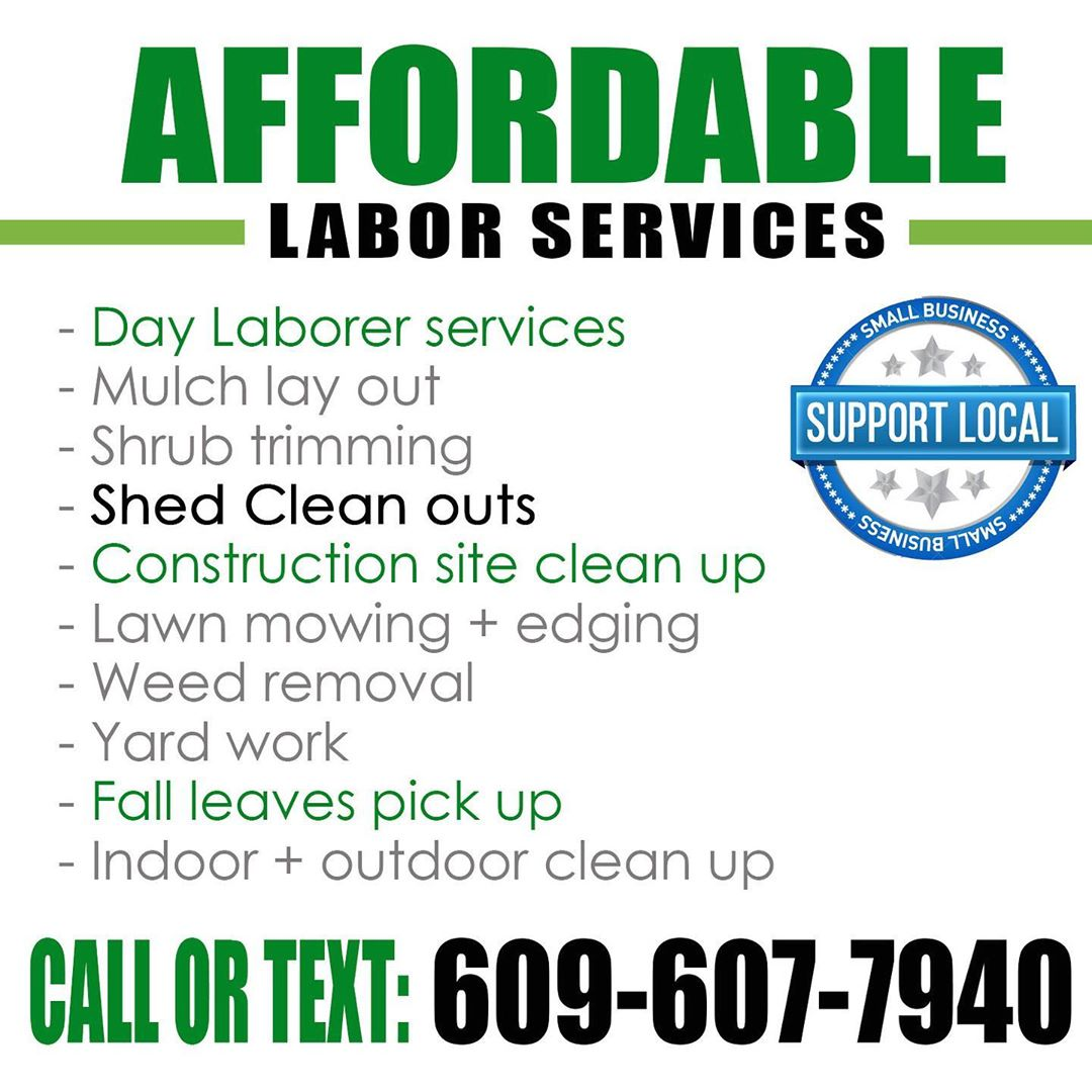 LBI Need affordable labor services? Need a day laborer to handle a project or two ar…
