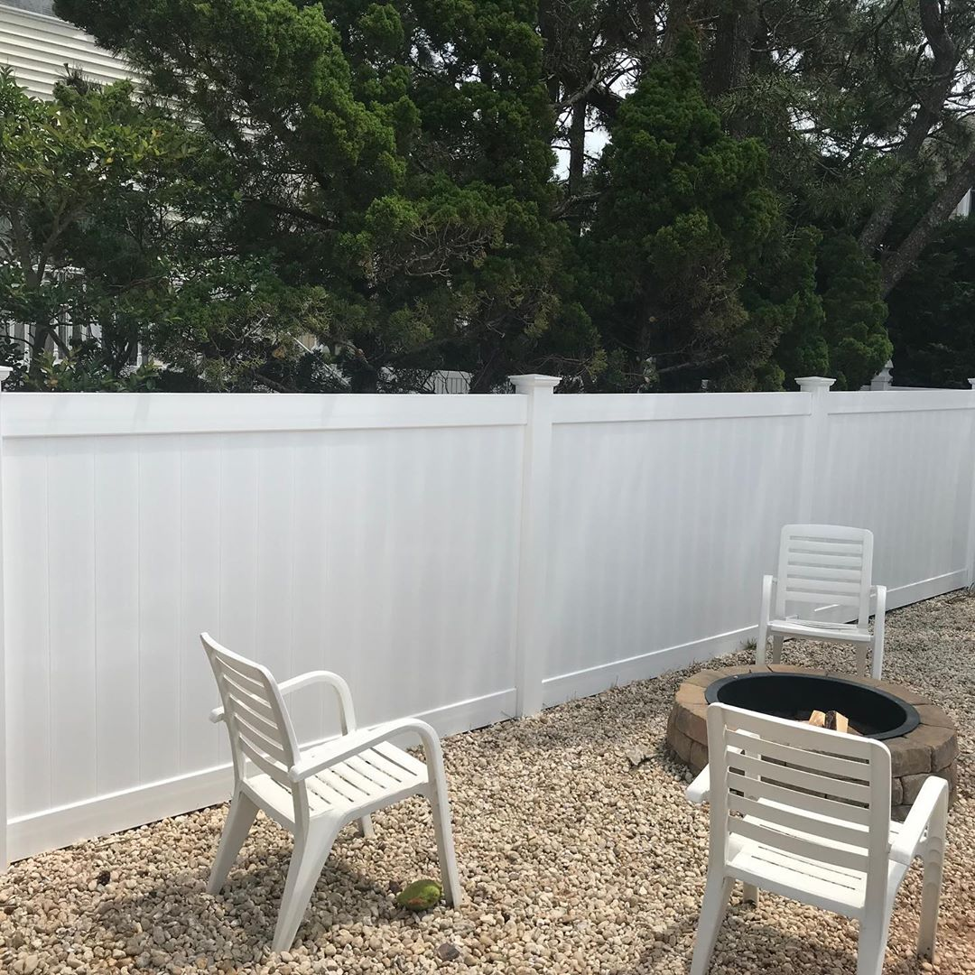 LBI New 5' privacy fence along the back and a custom built privacy extension piece f…