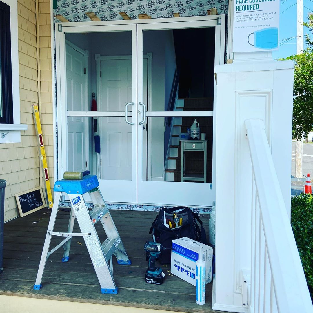 LBI New Commercial Doors at Black eyed Susan's for when the powers that be let us ea…