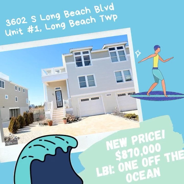 LBI  New price for a one off the ocean beautiful move in ready home!  3602 S Long Be…