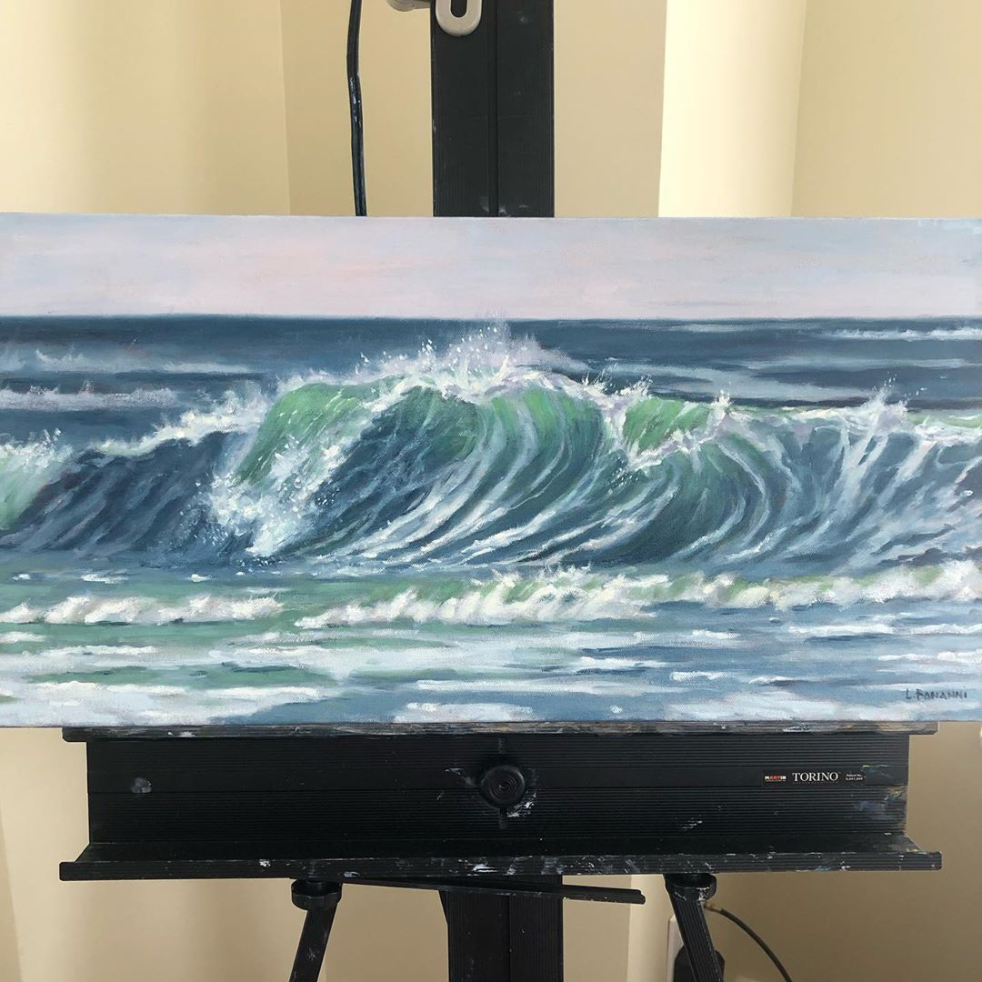 LBI New wave painting: 12″x24″ oil on canvas.                 …