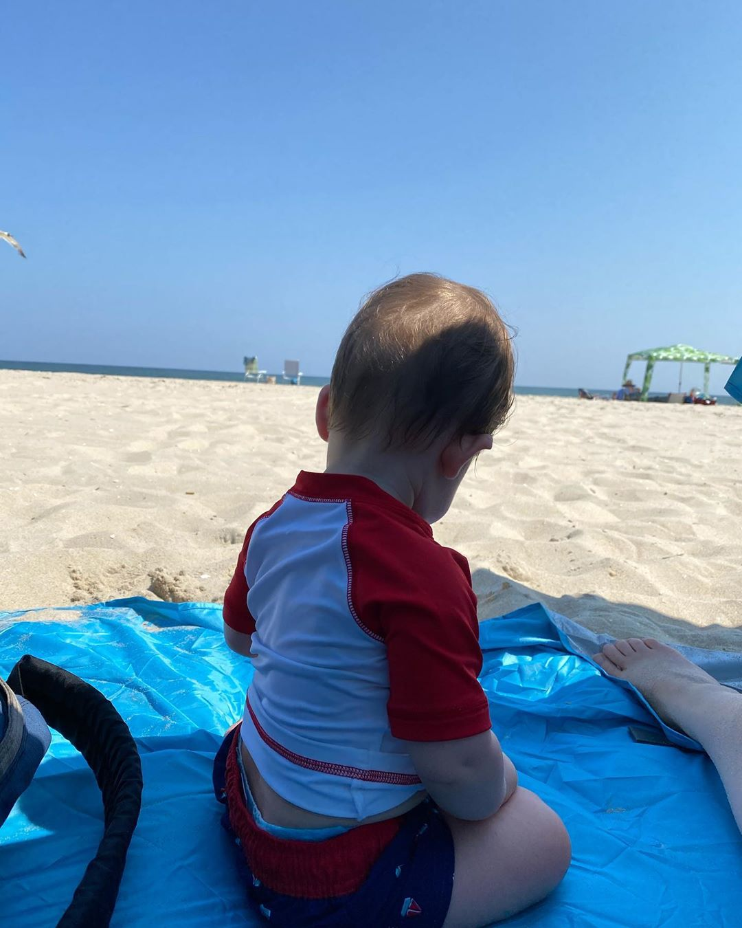LBI Noah's first time on the beach. He was a little unsure, but didn't hate it.   …