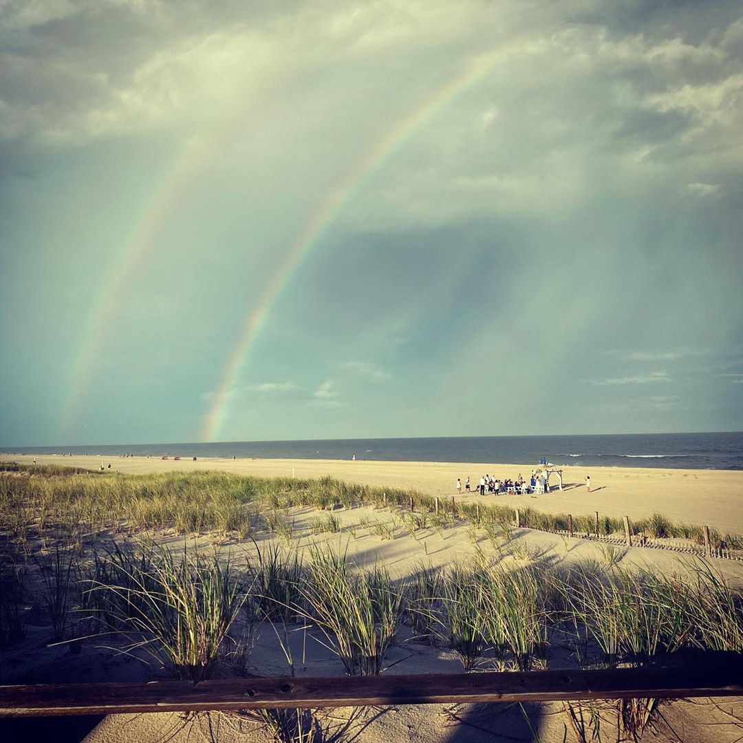 LBI Ocean, wedding and a double rainbow.  What more could you want?     …