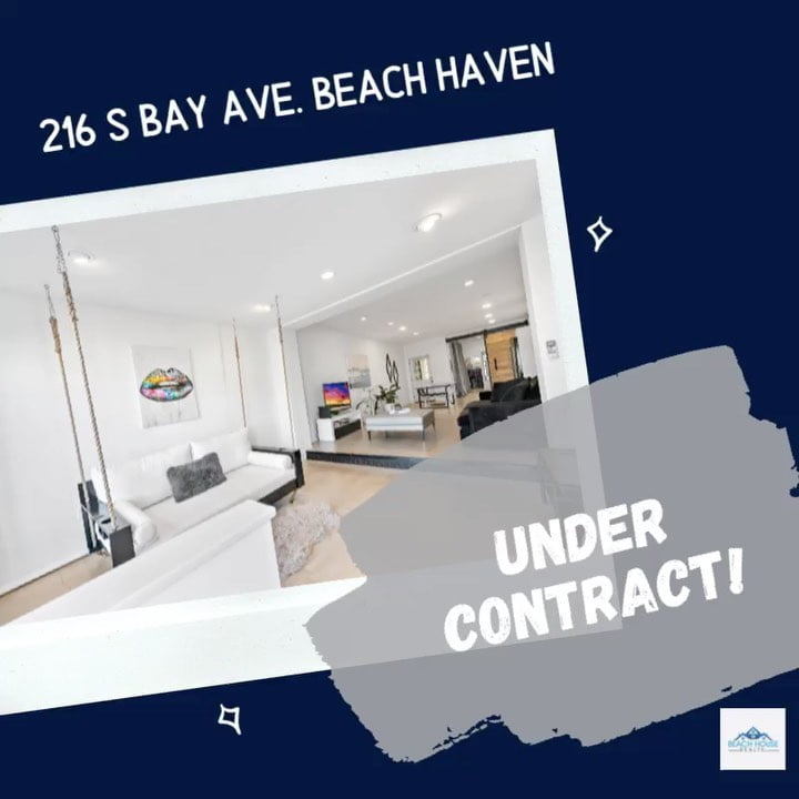 LBI Oficially Under Contract! Congratulations to my sellers and also to my buyers. T…