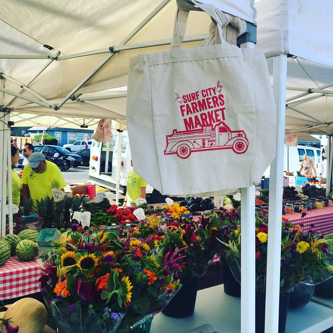 LBI PICK UP OUR FARMERS MARKET TOTE BAG! $10 at the Firehouse Table at the Surf City…