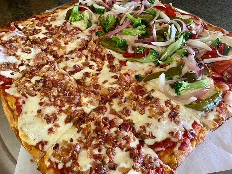 LBI Pizza on a Tuesday? Sounds like a solid dinner plan to us! Try this Sicilian pie…