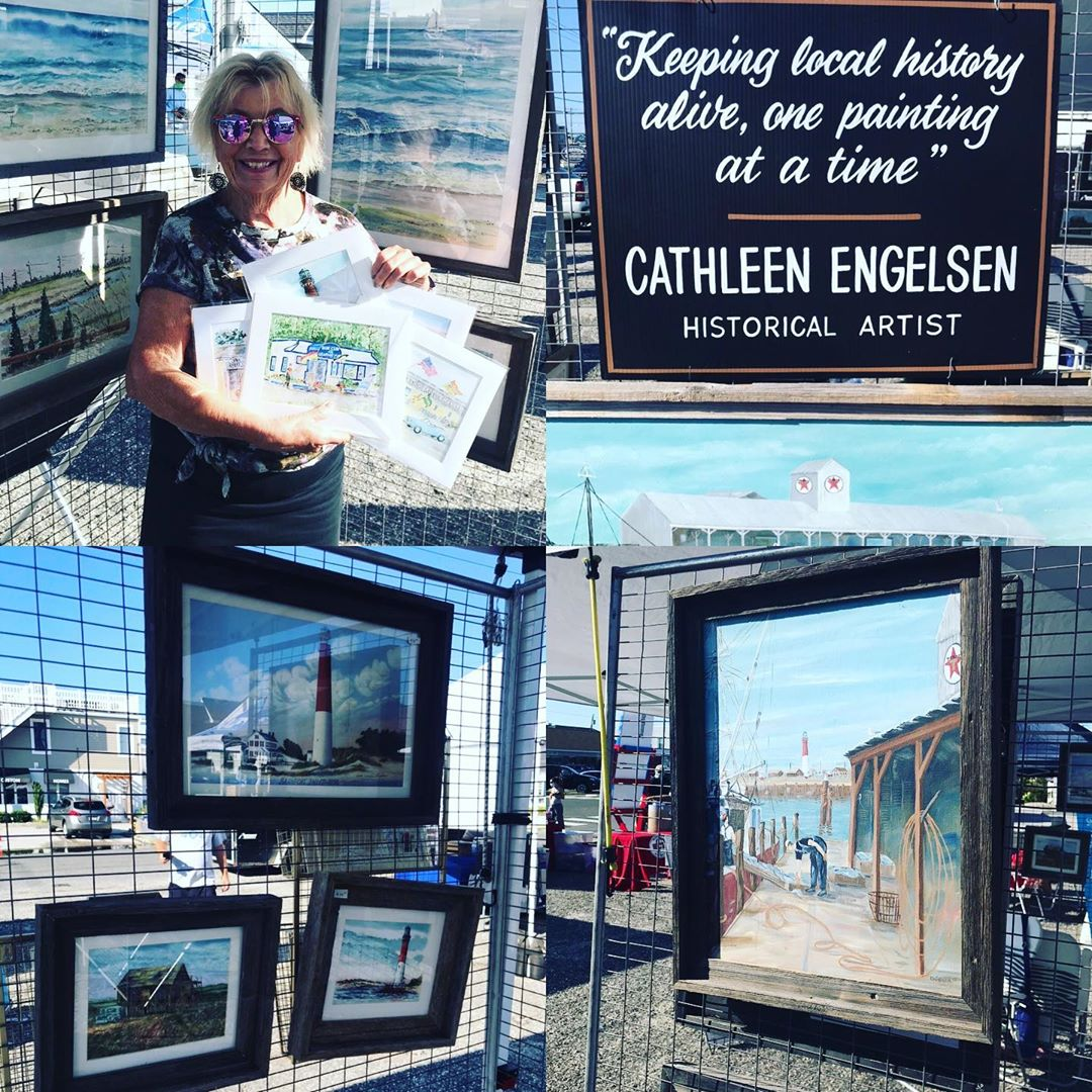 LBI SURF CITY TREASURE, Artist Cathleen Engelsen, at the Surf City Farmers Market on…