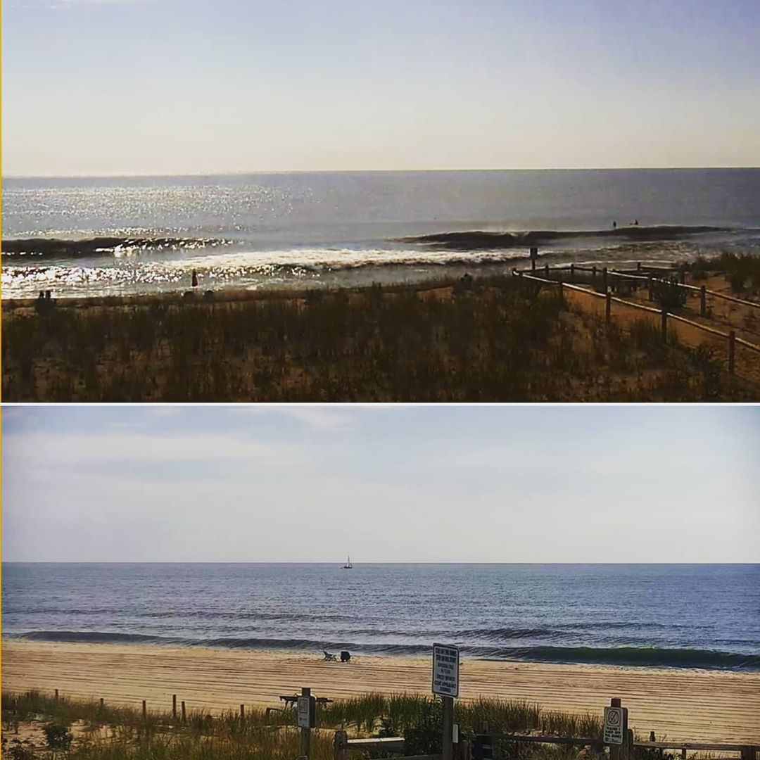 LBI SURF/BEACH REPORT  75° sunny  Ocean temp 73°-76°  ESE swell in the water this mo…