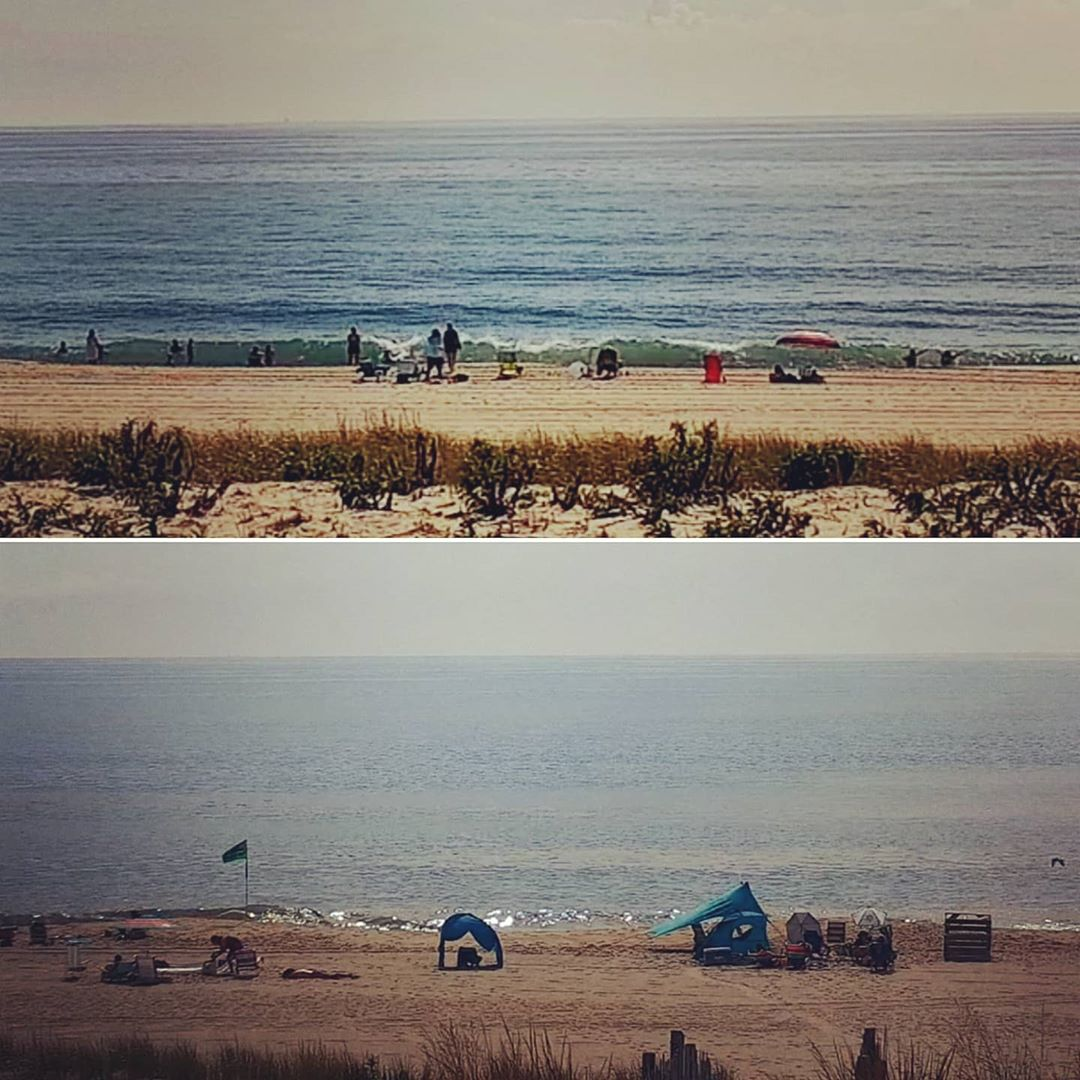 LBI SURF/BEACH REPORT  76° sunny Ocean temp 72°-76° Small SE/ESE swell mix and S win…