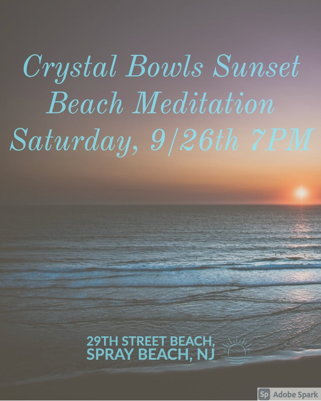 LBI Saturday, 9/26  7 PM – Join Suzanne Sunset for  Sunset Meditation with Crystal B…