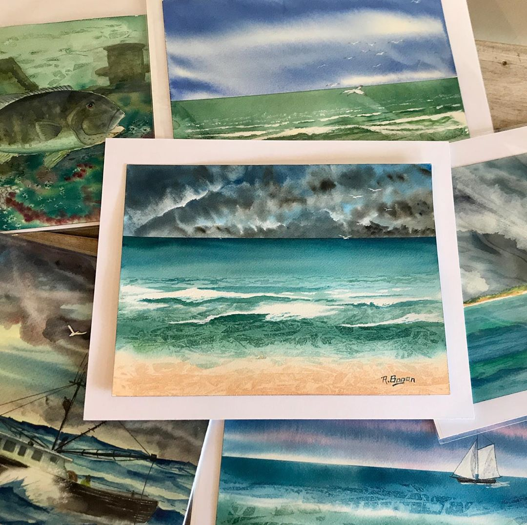 LBI So glad to announce that Capt. Bob Bogan's original watercolor paintings are now…