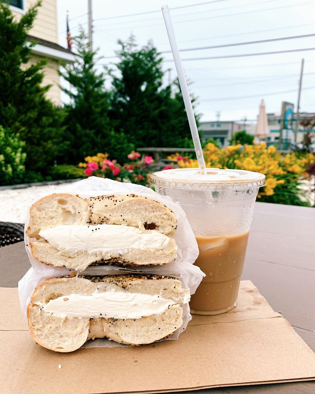LBI Start your summer day with a fresh hot bagel and iced coffee.        …