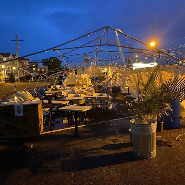 LBI Storm : 1& Howard's : 0& Unfortunately our tent was destroyed by last nights sto…