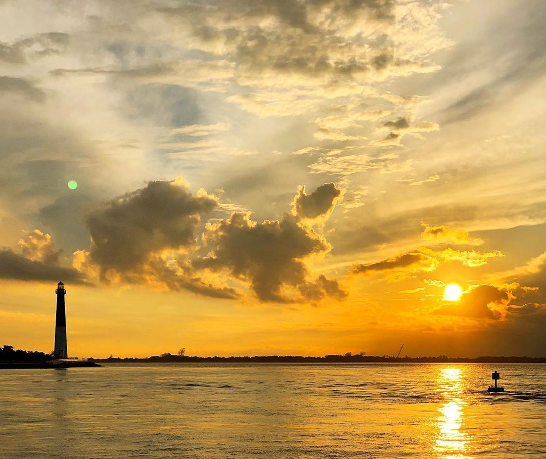 LBI Sunset from across the inlet             …