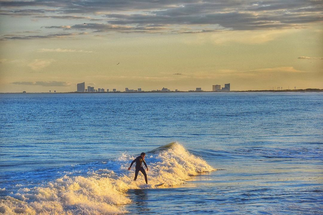LBI Surf & Surfing at Holgate…in the shadow of Atlantic City……