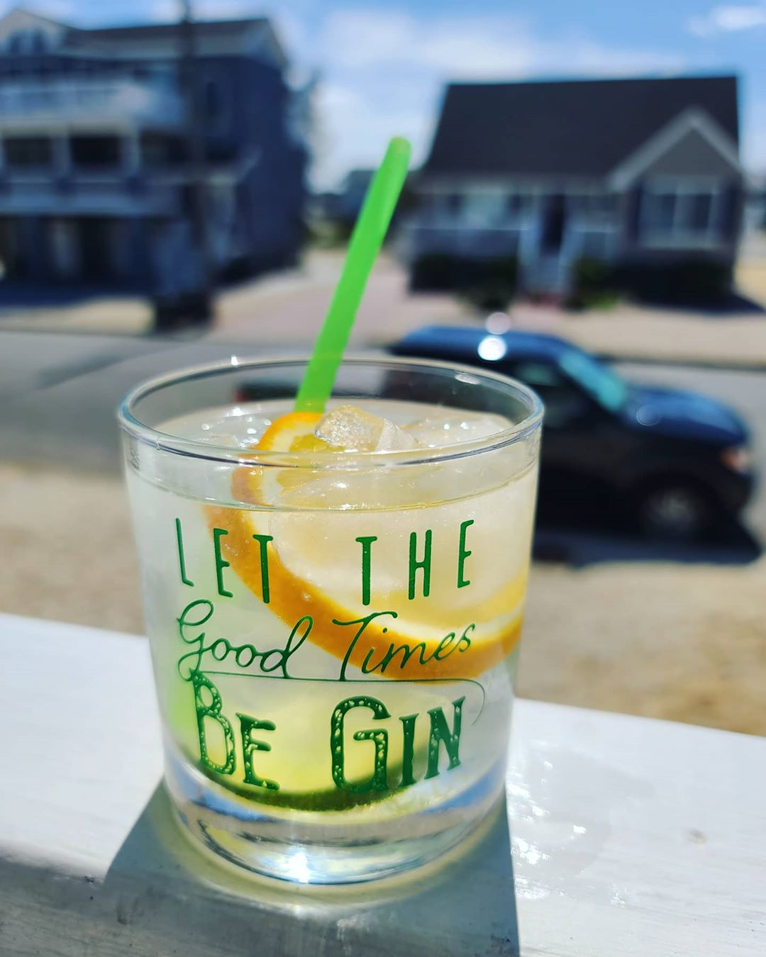 LBI Thanks for this FABULOUS glass,  It's perfect! Let the games be-GIN! Happy Local…