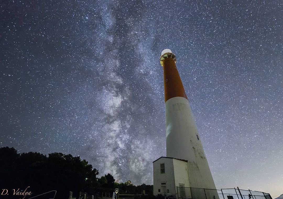 LBI The Milky Way stands tall next to a South Jersey icon. Great capture,  I absolut…
