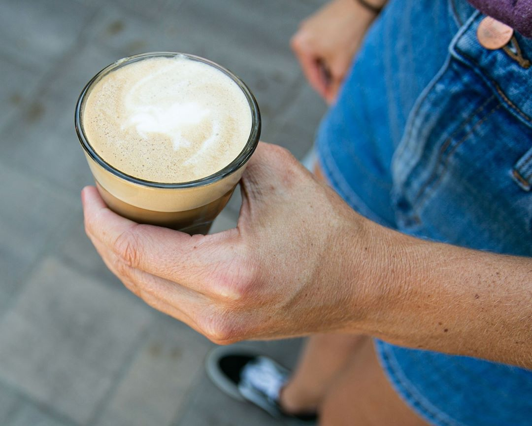 LBI The cortado: a double shot of espresso with equal parts textured, steamed milk. …