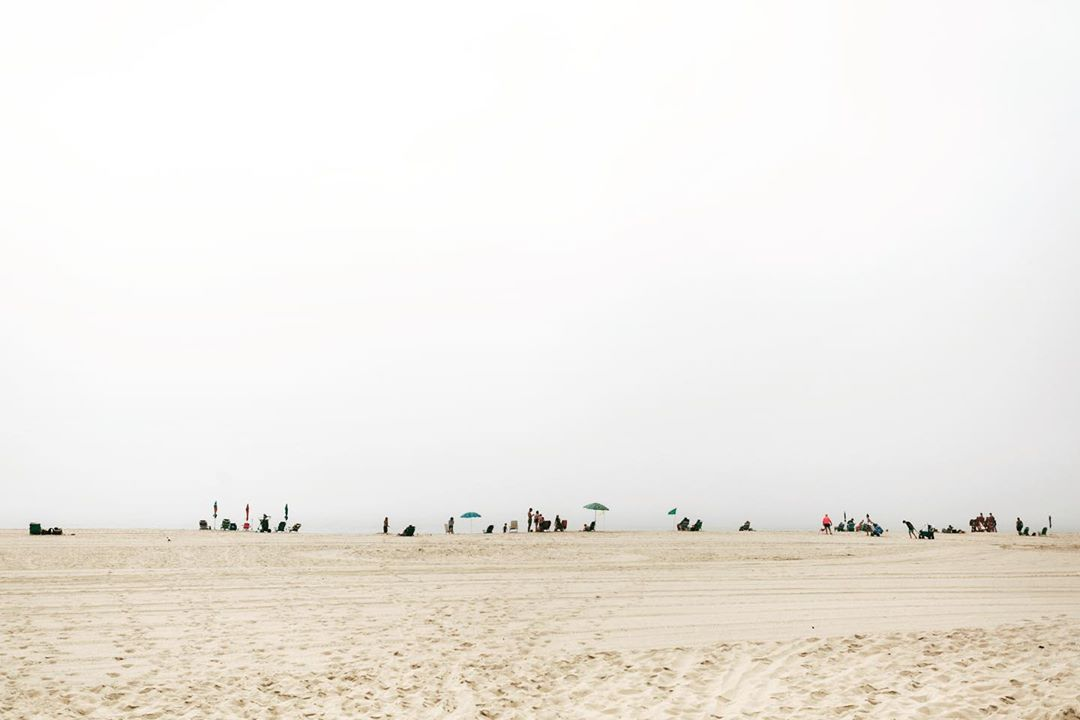 LBI This morning's foggy little beach view  •           …