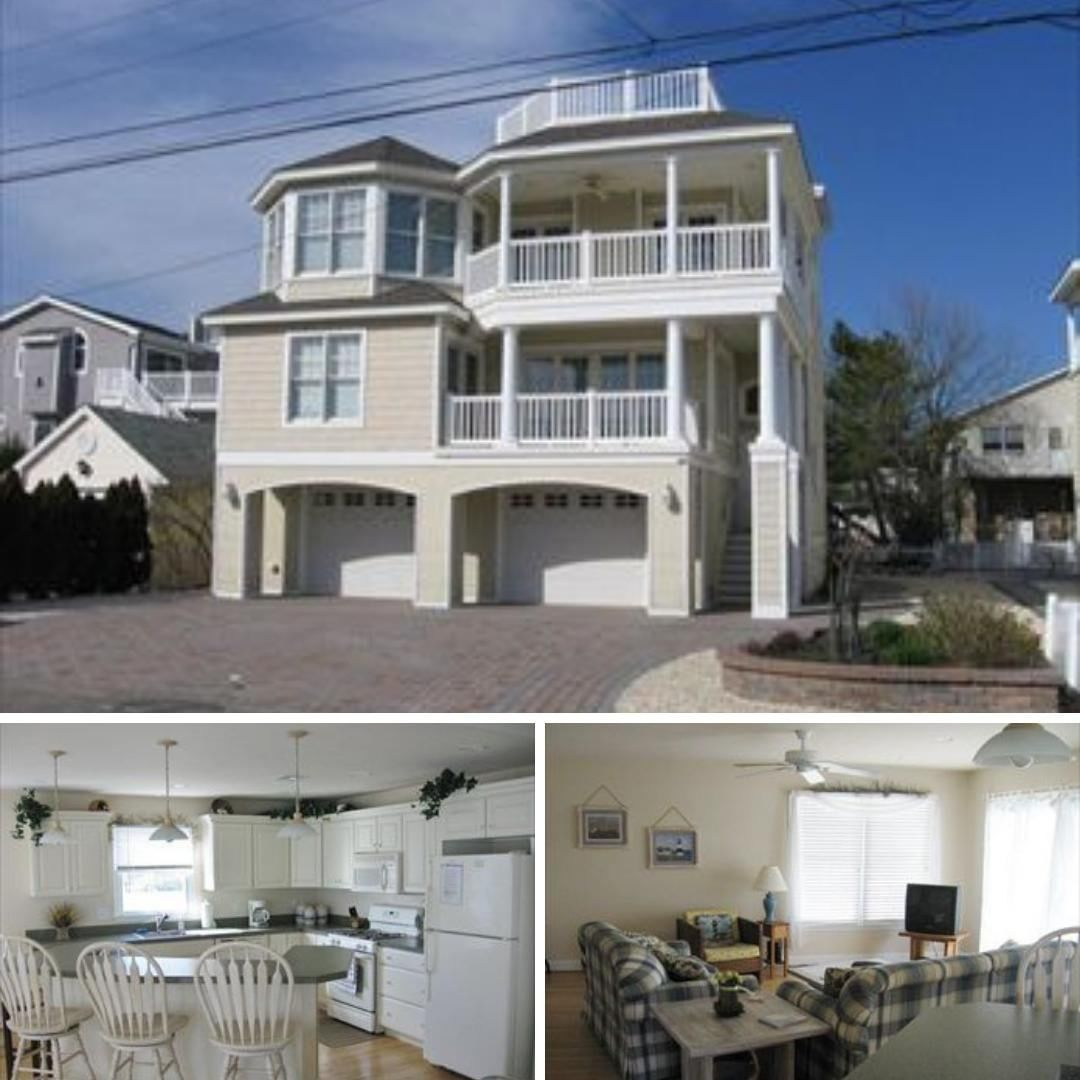 LBI This ocean block, vacation duplex in  is just a short walk to the beach.     3 b…